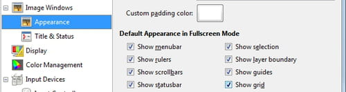 how to make gimp fullscreen