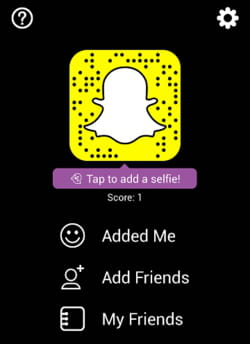 how to add someone from snapcode