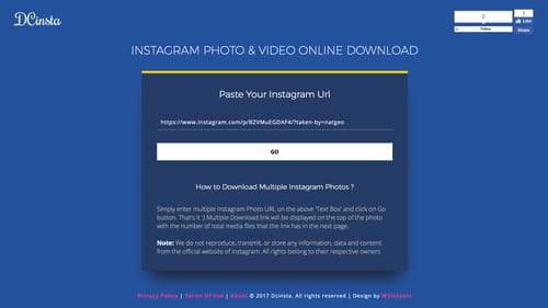 how to download instagram photos on pc chrome