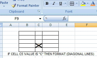 excel vba format a range borders to crossed diagonal lines solved