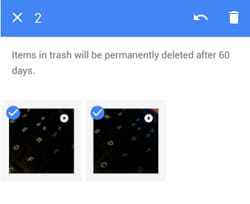 how to delete photos permanently from moto e