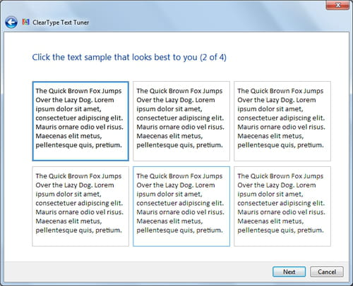 Windows 7 - Adjust Cleartype text