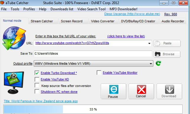 Free youtube downloader support downloading videos from youtube.