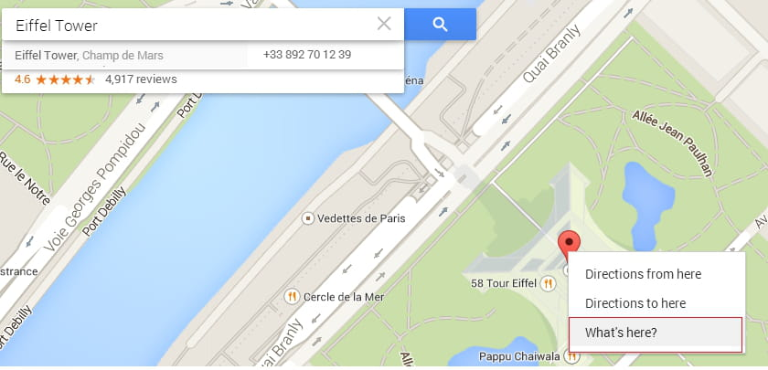 how to search coordinates on google maps