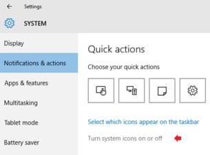 how to turn off action center windows 10