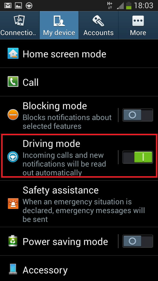 Samsung galaxy s4 enable the driving mode related samsung galaxy s4 enable ccuart Gallery