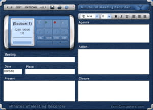 Download the latest version of Minutes of Meeting Recorder free in ...