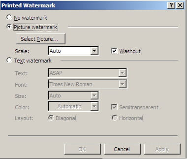 Insert Picture Background On Microsoft Word