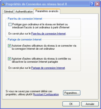 internet connection sharing in XP