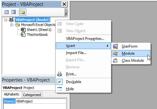 Excel VBA: Your first simple VBA code