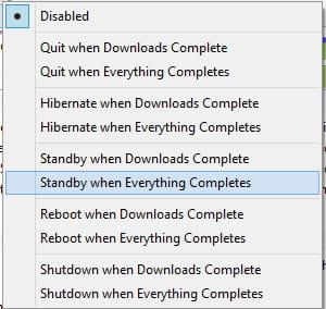 BitTorrent - Configure the auto-shutdown settings