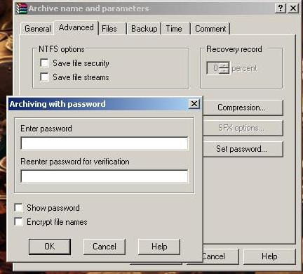 WinRar - How To Create Password-Protected Archives?
