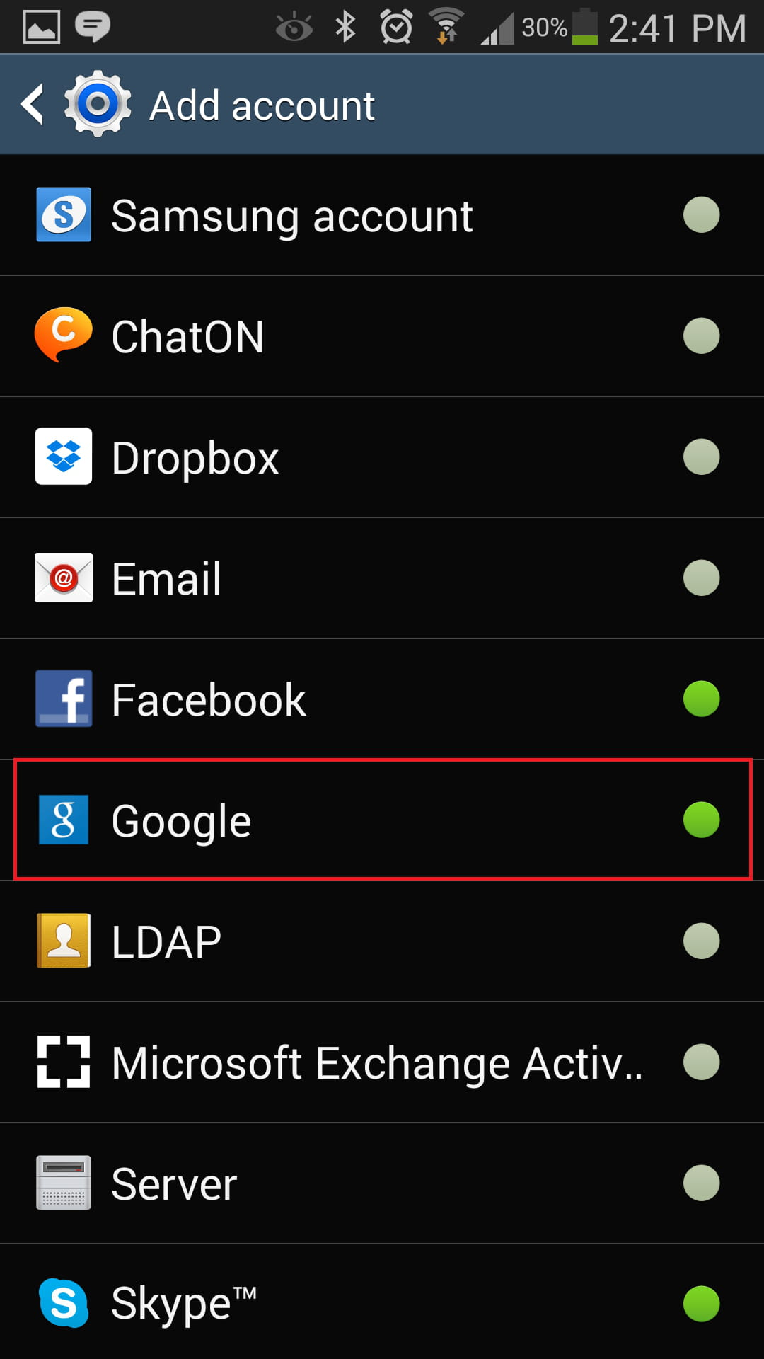 Android - How to change your current Google account?