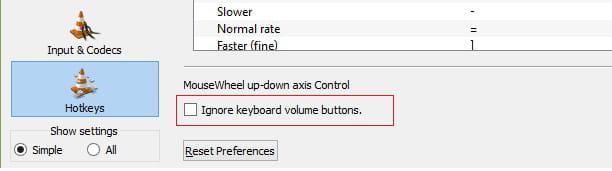VLC - Keyboard volume keys not working!