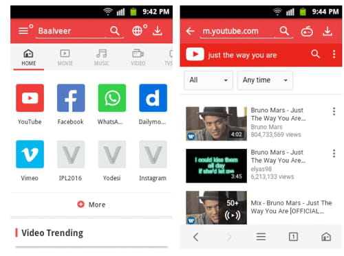 Download the latest version of VidMate YouTube Downloader