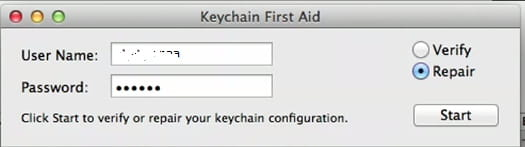 keychain access mac not responding