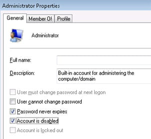 Access a hidden administrator account in windows vista in the right side window go to administrator properties and untick the box account is disabled ccuart Choice Image