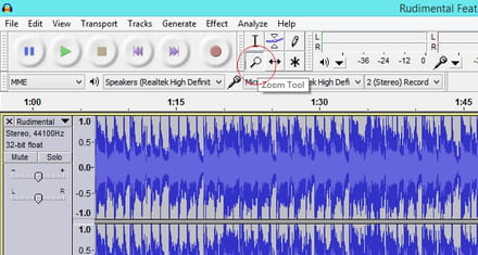 Audacity - Remove a section of a music track