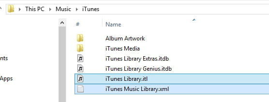 how to delete default itune library