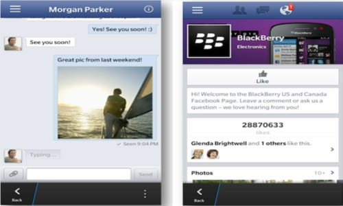 Download the latest version of Facebook for BlackBerry free in