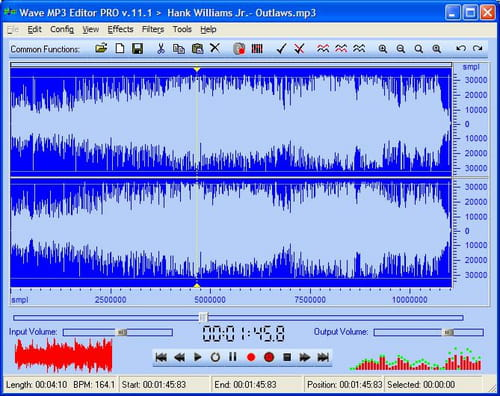 Download the latest version of Wave MP3 Editor Pro free in