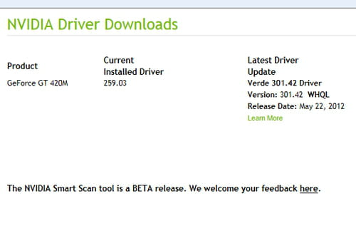 NVIDIA Smart Scan - Easily update your graphics card driver