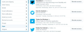 Twitter - How to revoke the access to connected apps