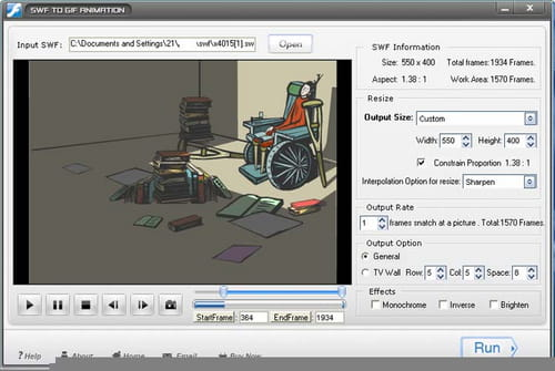 Download the latest version of SWF to GIF Animation free in