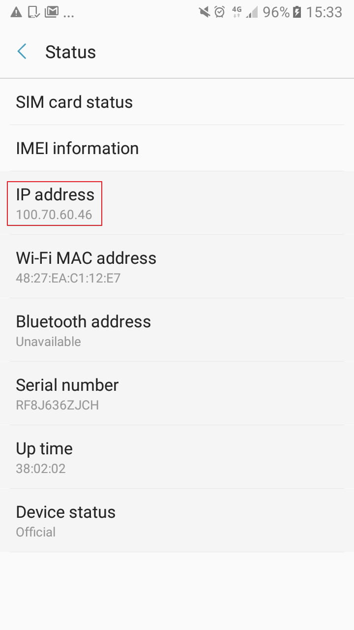 How To Check Your Android IP Address