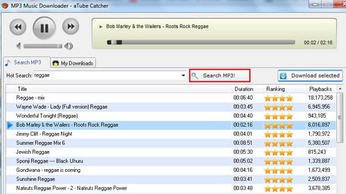 Download MP3 music with aTube Catcher