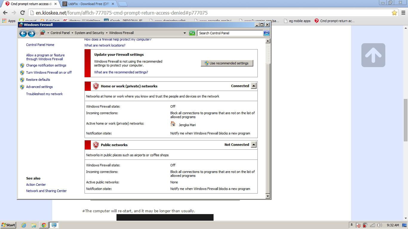 Cmd prompt return access denied [Solved]