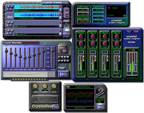 KRISTAL Audio Engine is a powerful multi track recorder audio sequencer and mixer ideal for anyone wanting to get started with recording mixing and mastering digital  audio br br It is designed as a modular system The main application provides a mixing console while the  audio sequencer live audio...