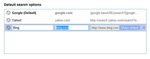 how to change browser search engine