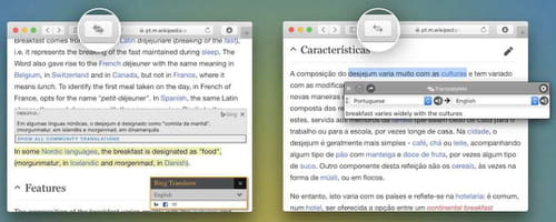 Download the latest version of Translate Safari Extension