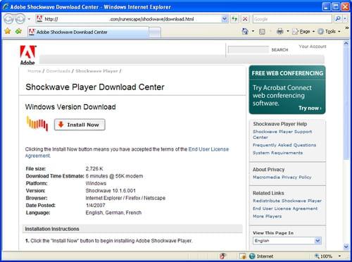 telecharger adobe flash player gratuit pour windows 10 64 bits