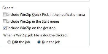 Winzip - Disable from Start Menu