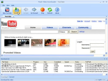 Download the latest version of Flash Video Downloader YouTube free