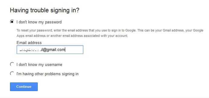 How To Recover the Password of a Google Account
