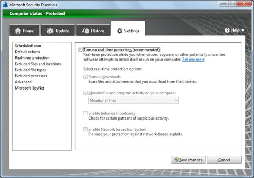 Microsoft Security Essentials - Disabling Your Antivirus