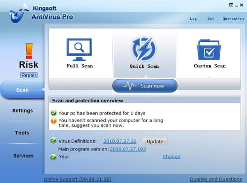 Download the latest version of Kingsoft Free Antivirus free