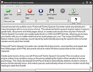 Download the latest version of Pistonsoft Text to Speech Converter