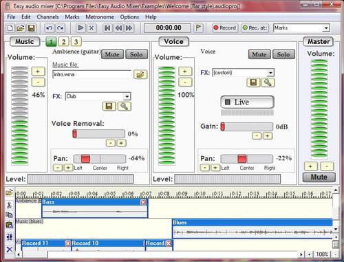 Download the latest version of Easy audio mixer free in English on CCM