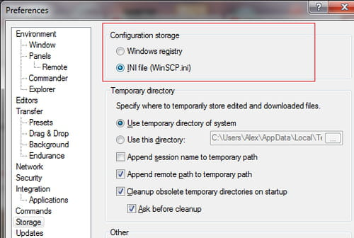 winscp download all files in directory