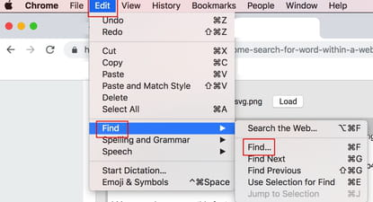 How To Search for a Word Within a Google Chrome Webpage
