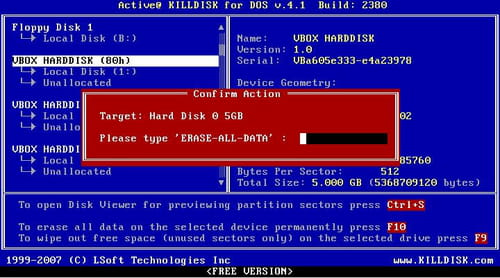 active killdisk mac