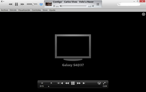 Stream videos and songs from your iTunes library to your