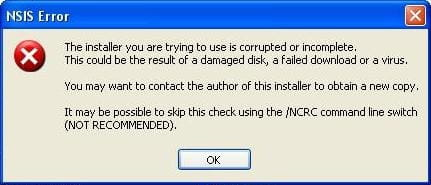 NSIS Error : cannot install softwares