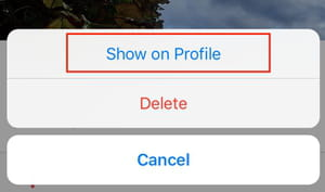 Instagram recover archived photos screenshot