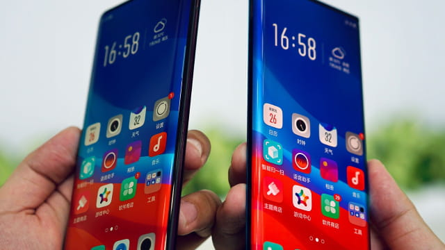 Oppo Unveils Waterfall Screen