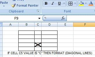 Excel VBA Format a Range Borders to Crossed diagonal lines